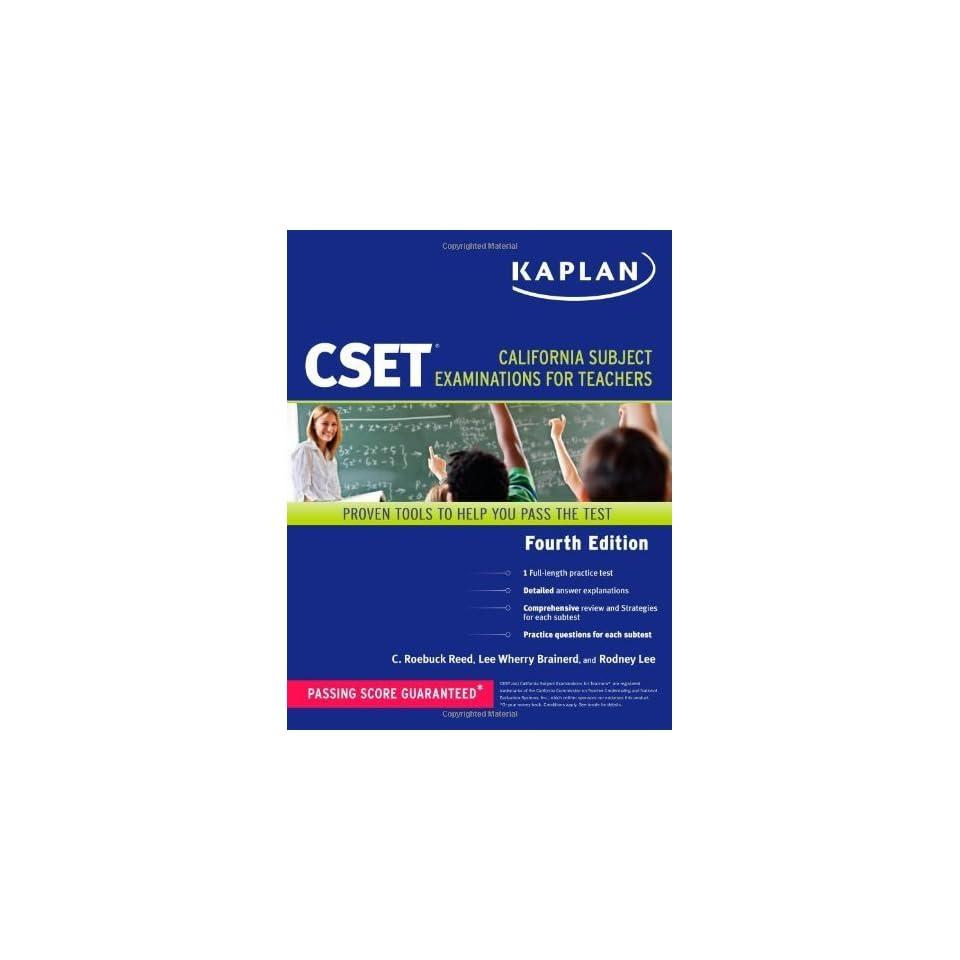 com Kaplan CSET California Subject Examinations for Teachers