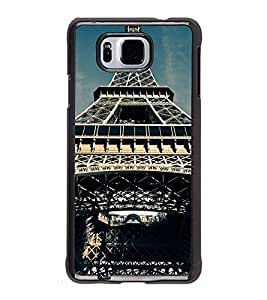 Fuson Premium 2D Back Case Cover Eiffel tower With green Background Degined For Samsung Galaxy Alpha G850