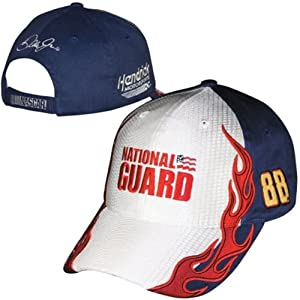 Dale Earnhardt Jr National Guard #88 Nascar Checkered Flag Fast Time Adjustable Hat... by Checkered Flag
