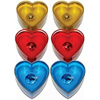 Craffto Heart Shape Smokeless Tea Light Gel Candle - GHP (18 Candles) Festive Decor Candle