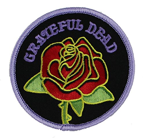 Application Grateful Dead Rose with Logo Patch