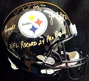 Jack Lambert, Jack Ham & Andy Russell Autographed Hand Signed Pittsburgh Steelers... by Hall of Fame Memorabilia