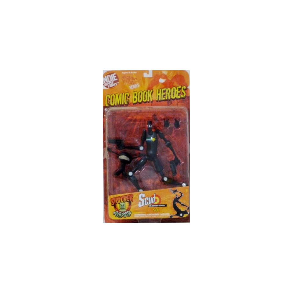 28c6bf5676b876 Indie Spotlight Scud SOL Black Variant Figure MOC Comic Book Disposable  Assassin
