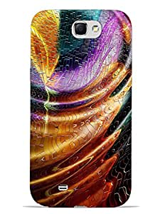 Bagsfull Designer Printed Matte Hard Back Cover Case For Samsung Galaxy Note 2 N7100
