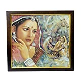 Rajsthani Women Canvas digital print on canvas frame best use for wall decor living bed room interior design