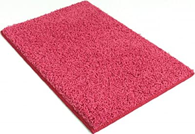 "Area Rug. Dusty Rose Pink carpet. 37 oz TWISTED SHAG FRIEZE. Many sizes and 20 vibrant ""mod"" colors to choose from."