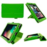 rooCASE Origami Dual-View (Green) Vegan Leather Folio Case Cover for Google Nexus 7 Tablet (NOT Compatible with 2013 Nexus 7 2 FHD)