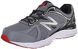 New Balance Men\'s M560V6 Running Shoe, Grey/Black/Red, 12 D US