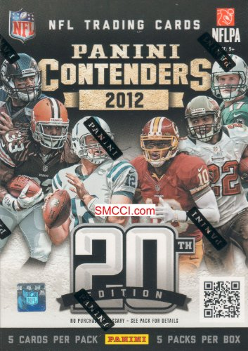 2012 Panini Contenders Football Series Unopened Blaster Box That Contains 5 Packs with 5 Cards Per for a Total of 25 Cards Including One Guaranteed Autographed Card Per Box Chance At a Ton of Different Rookie Cards Including Andrew Luck Robert Griffin 3rd