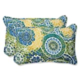 Pillow Perfect Outdoor Omnia Lagoon Rectangular Throw Pillow, Set of 2