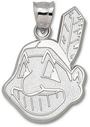 Cleveland Indians Giant 1 1 4 W x 1 7 8 H Chief Wahoo Pendant - Sterling Silver... by Logo Art