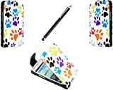 Case cover for Samsung Galaxy S3 mini i8190 Book / flip / wallet / PU leather / design / stripe / premium / stand (multi dog cat)