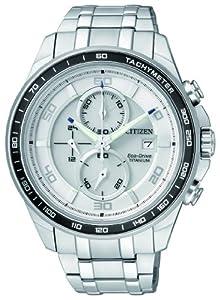 Citizen Super Titanium CA0340-55A - Reloj cronógrafo de cuarzo para hombre, correa de titanio color plateado