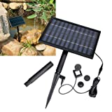 Solar Power Fountain Pond Brushless Water Pump w/ 1600mA Storage Battery