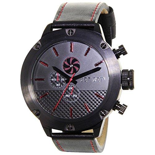 Jet Set Hommes Montre chronographe de Mirage Gris/Noir j7468b-237