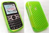 EMARTBUY ALCATEL OT-800 HEXAGON PATTERN GEL SKIN COVER/CASE GREEN