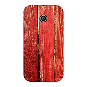 Cute Red Bar Wood Print Back Case Cover for Moto E