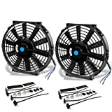 10 Inch High Performance Black Electric Radiator Cooling Fan Assembly Kit...