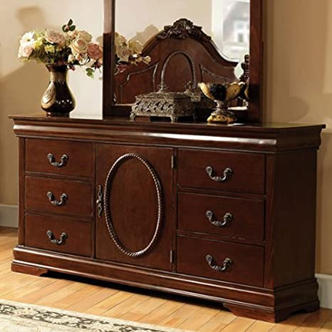 Velda Solid Wood Warm Cherry Finish Bedroom Dresser