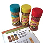 Mrs. Dash Seasoning Blends 3 Variety Pack Bundle - Favorite Blends including Original, Extra Spicy, Garlic and Herb with BONUS Cooking with Mrs. Dash Recipe Booklet