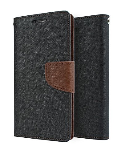 DENICELL Royal Dairy Style Flip Cover For Samsung Galaxy S5 Mini (BLACK BROWN)  available at amazon for Rs.197
