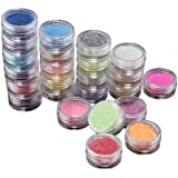 fitTek 24 Colori Paillette Scintillanti Metallici Unghie Decorativo Nail Art
