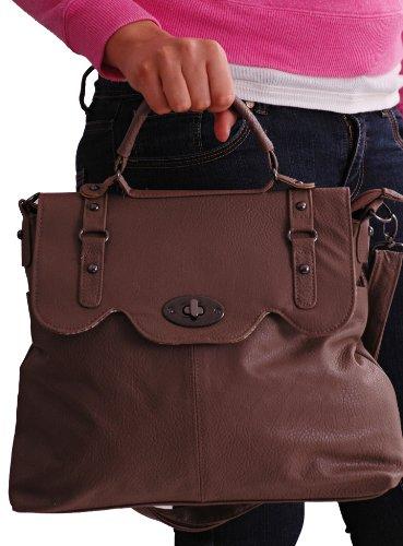 EyeCatchBags - Ava Satchel Faux Leather Ladies Messenger Shoulder Bag
