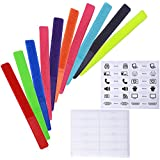 Wisdompro® 20 PCS 7 Inch Colorful Reusable Fastening Velcro Cable Ties with Extra Identification Tag Label Stickers