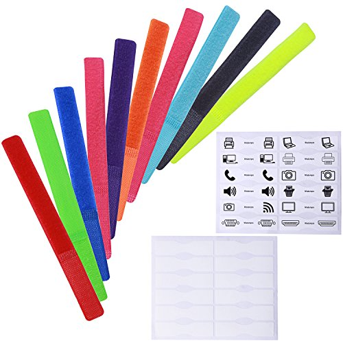 Wisdompro 20 PCS 7 Inch Colorful Reusable Fastening
