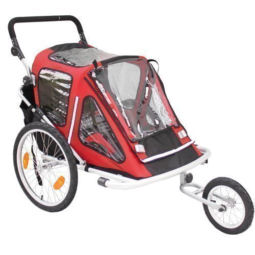 Kinderanhänger Red Loon RB10001 ALU-Light + Jogger für 2 Kinder TÜV/GS
