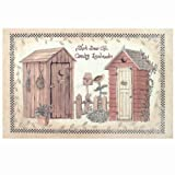 Avanti Linens Outhouses Rug, Multi