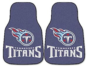 Fanmats Tennessee Titans Team 2 Piece Car Mats by Hall of Fame Memorabilia