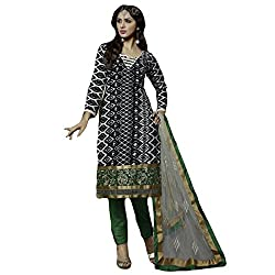 Typify Women's Chanderi Unstitched Dress Material (TYPIFY219_Multicolor_Free Size)