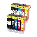 10 Canon Compatible CLI526, PGI525, cartouches d'e...
