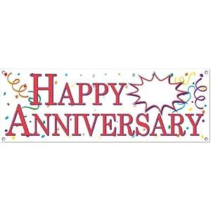 amazoncom beistle 57516 happy anniversary sign banner 5