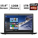 "2017 Newest Lenovo Ideapad 15.6"" HD Premium High Performance Laptop, AMD A12-9700P Quad Core Processor 2.5GHz,..."