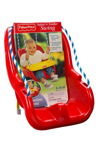 Fisher-Price Infant To Toddler Swing in Red, Free Shipping, New | eBay