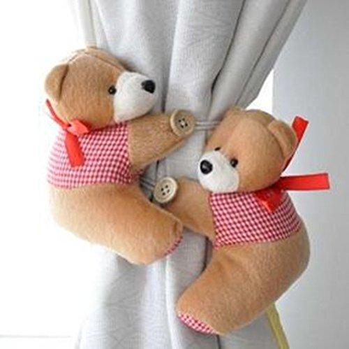 1 Pair Bear Window Curtain Tieback