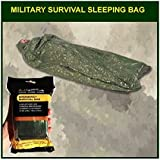 Military Survival Sleeping Bag - Olive Drab: Reflects 90% Body Heat