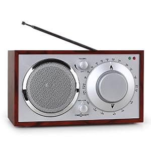 """oneConcept """"Lausanne"""" Nostalgie-Radio kirsche UKW AUX"""