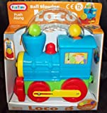 FunTime Push Along Train - Ball Blowing Loco Suitable For 12 Months +