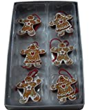 Gisela Graham Set of 6 Gingerbread Boys and Girls