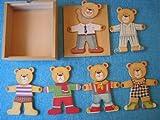 Wooden Puzzle Play Set -- Moody Bear