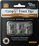 COMPLY (コンプライ) イヤホンチップ Pシリーズ プラチナ Sサイズ 3ペア (並行輸入品)