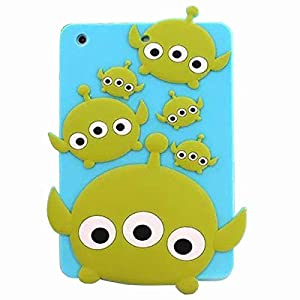 Ipad mini Case,Mingfung 3D Cute Silicone Back Case Cover Skin for Ipad