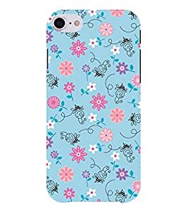 Chiraiyaa Designer Printed Premium Back Cover Case for Apple iPhone 7 (bee flower boy girl friend valentine miss kiss pattern) (Multicolor)