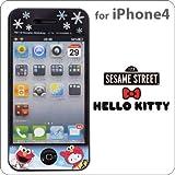 iPhone4専用★セサミストリート×ハローキティ液晶保護フィルム(冬バージョン)SSMKT-10A