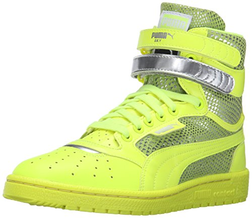 PUMA Women's Sky Ii Hi Futur Minimal Wn's Basketball Shoe, Safety Yellow, 6.5 M US (Amazon Jordan Shoes compare prices)