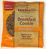 Erin Baker's Breakfast Cookie Morning Glory, 3-Ounce Individually Wrapped Cookies (Pack of 12)