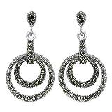 Silvantra Marcasite Silver Earrings